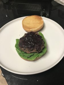 Holiday Burger with Cranberry